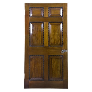 Pair of Mahogany Chippendale Interior Doors with Original Paktong Hardware