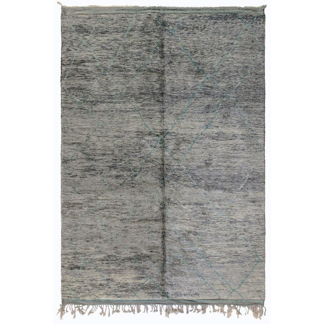 Moroccan Turquoise Accent Rug - 8′6″ × 12′1″ - Image 2 of 2