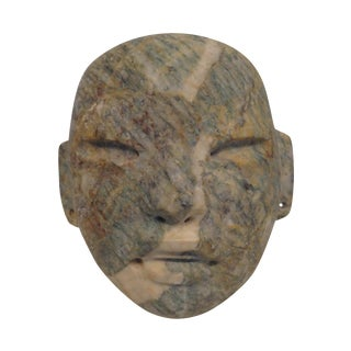 Solid Carved Stone Modernist Mask