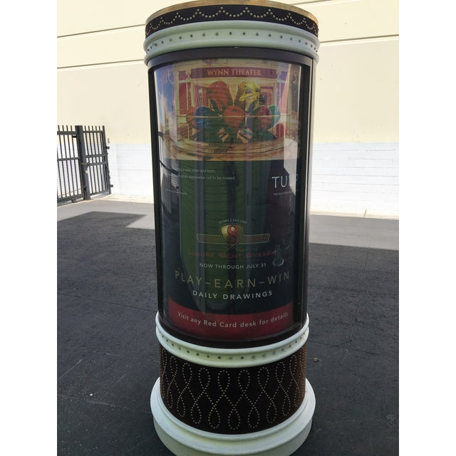 Large Lighted Rotating Advertisement Kiosk - Image 3 of 6