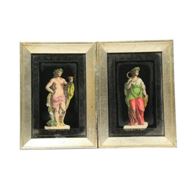 Image of Hollywood Regency Frammed Romans - Pair