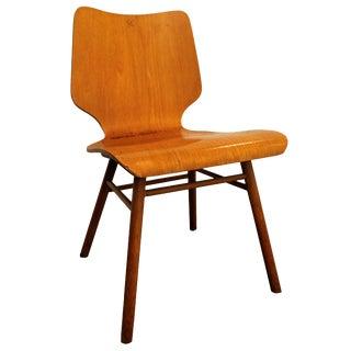 Danish Mid-Century Modern Bentwood Plyform Chair