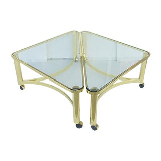 DIA Two Part Coffee Table on Casters