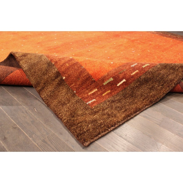 """Hand-Knotted Gabbeh Wool Rug - 7'8"""" x 9'5"""" - Image 3 of 5"""
