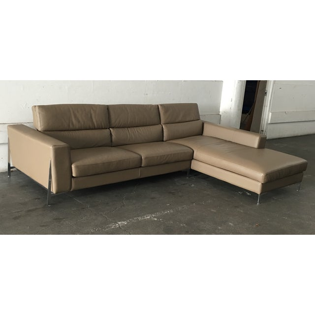 Image of Roche Bobois Invitation Series Leather Sectional