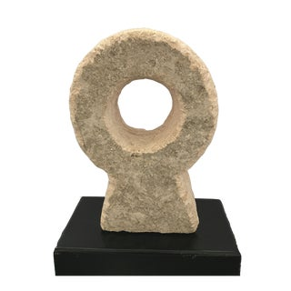 Round Carved Stone Sculpture