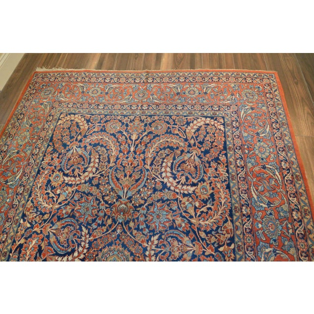 "Vintage Persian Sarouk Rug - 6'11"" X 10'11"" - Image 3 of 11"