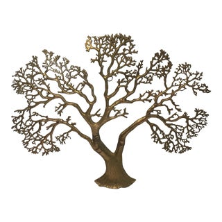 Vintage Solid Brass Tree Wall Hanging