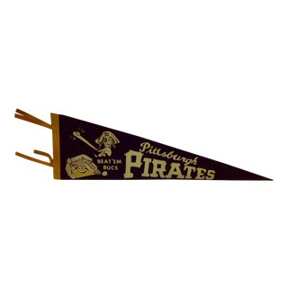 Vintage MLB Pittsburgh Pirates Pennant Flag