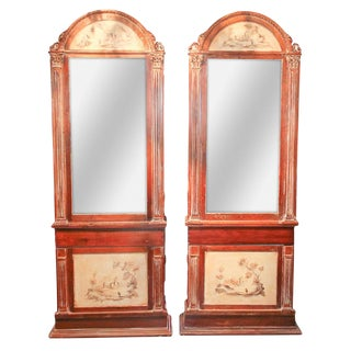 Pair of English Chinoiserie Cabinets