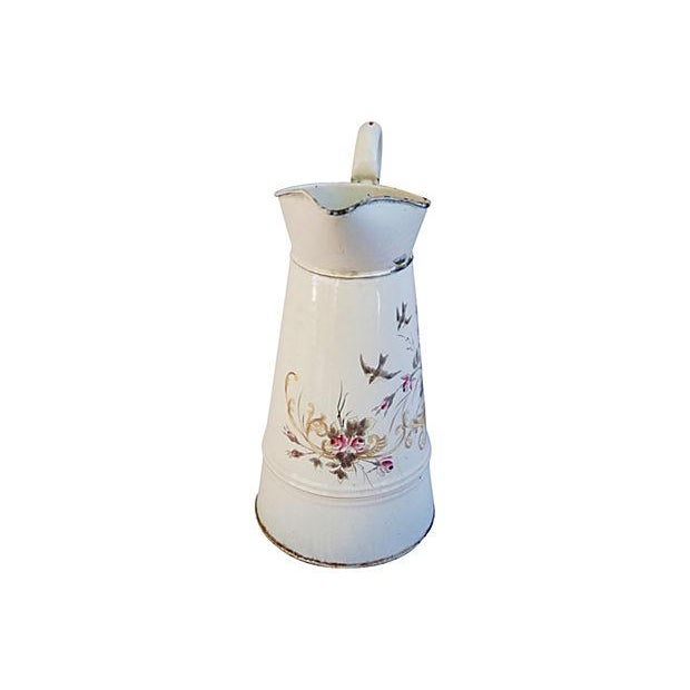 Vintage 1930s French Hand-Painted Floral Pitcher - Image 2 of 7