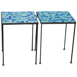 Italian Modern Mosaic Tables - A Pair