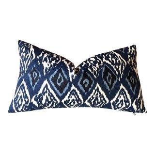 Robert Allen Boho Indigo Linen Ikat Pillow Cover