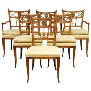 Set of Six French Provincial Farmhouse Dining Chairs