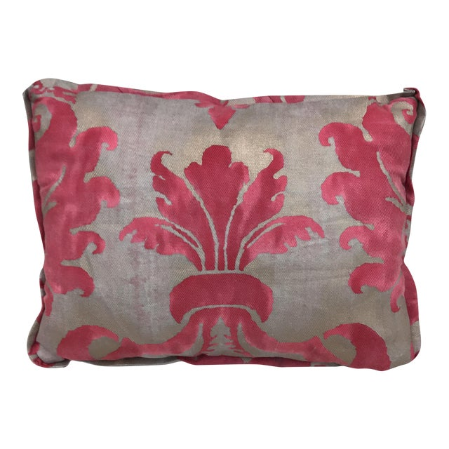 Pink & Metallic Gold Fortuny Pillow - Image 1 of 4