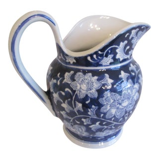Chinoiserie Blue & White Pitcher