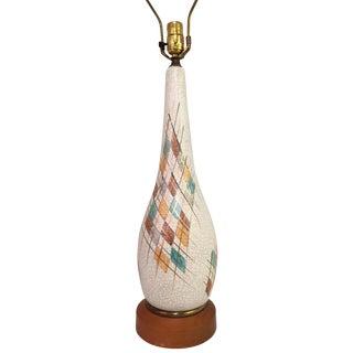 Mid-Century Modern Italian Ceramic Lamp