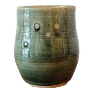 Textured Green Studio Pottery Mini Vessel