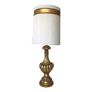 Italian Gilt Golden Urn Table Lamp