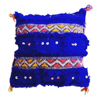 Blue Moroccan Berber Rug Pillow