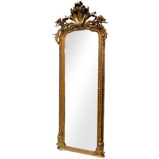 French Carved Gilt Framed Pier Mirror
