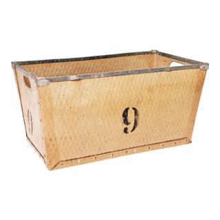 Vintage Industrial Fiber Tote Basket #9