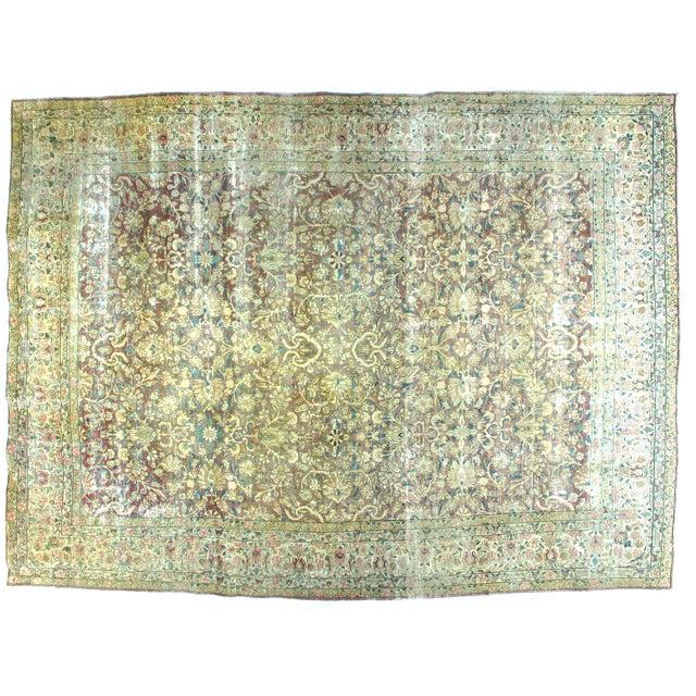 Antique Persian Kermanshah Carpet - 9' x 12'1'' - Image 1 of 3