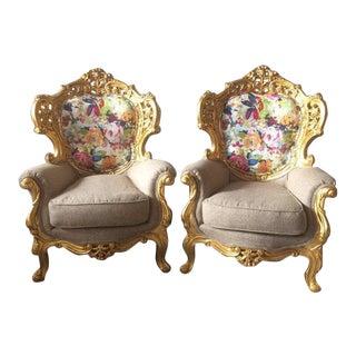 1900's Italian Baroque Chairs - A Pair
