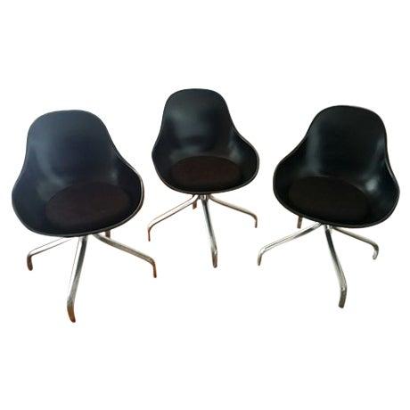 Mid-Century Modern Swivel Chairs - Set of 3 - Image 1 of 6