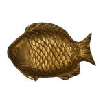 Image of Vintage Japanese Brass Fish Dish