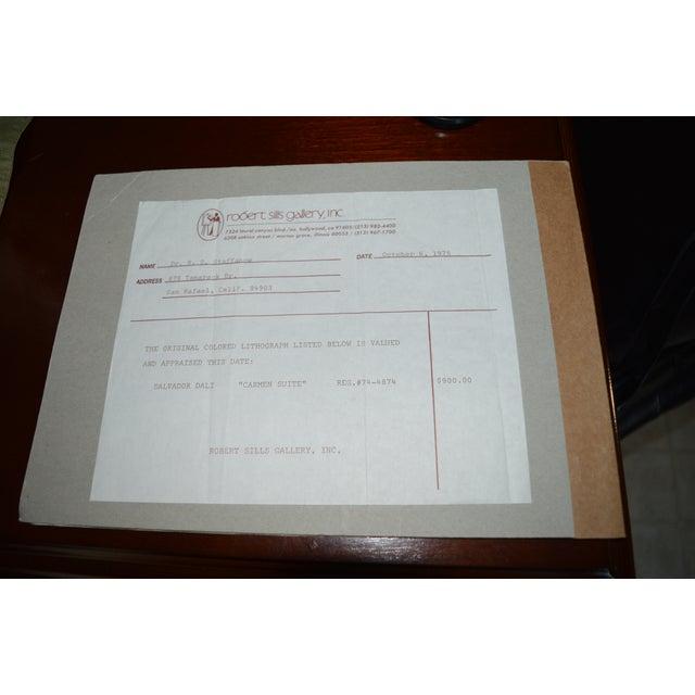 Signed 1979 Dali Print Carmen With Original Bill - Image 8 of 9