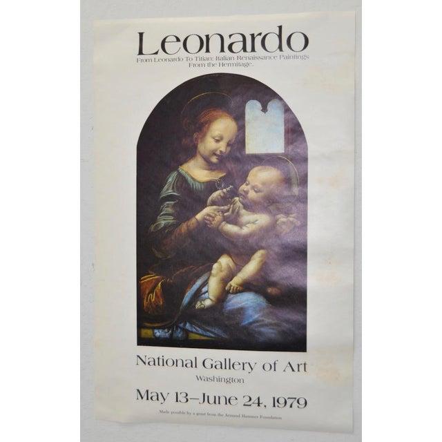 Leonardo D Exhibition : Vintage quot leonardo da vinci to titian exhibition poster