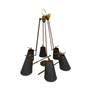 Jean-Louis Brass & Black Chandelier