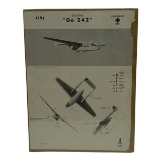 """WWII """"Gotha Go 242"""" Aircraft Recognition Poster"""