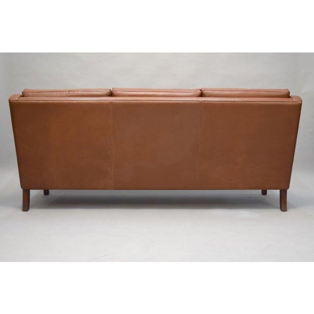 On Hold - Borge Mogensen Style Danish 3 Seater Leather Sofa - Image 5 of 10
