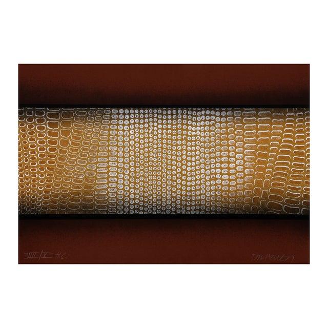 "Image of Paul Maxwell ""Snake Skin (Brown)"" Serigraph"