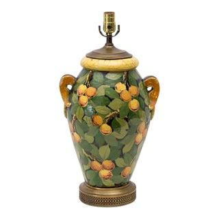 Italian Majolica Faience Citrus Fruits Lamp