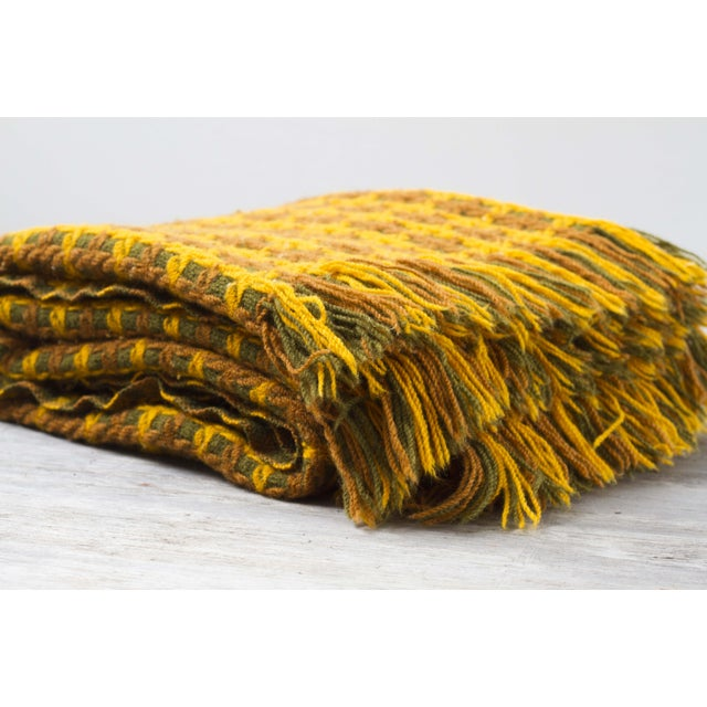 Vintage Pendleton Wool Knit Blanket - Image 4 of 7