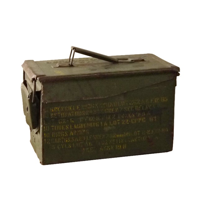 Green Stenciled Army Box - Image 1 of 4