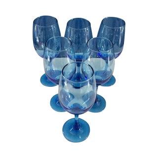 Blue Wine Glasses - Set of 6