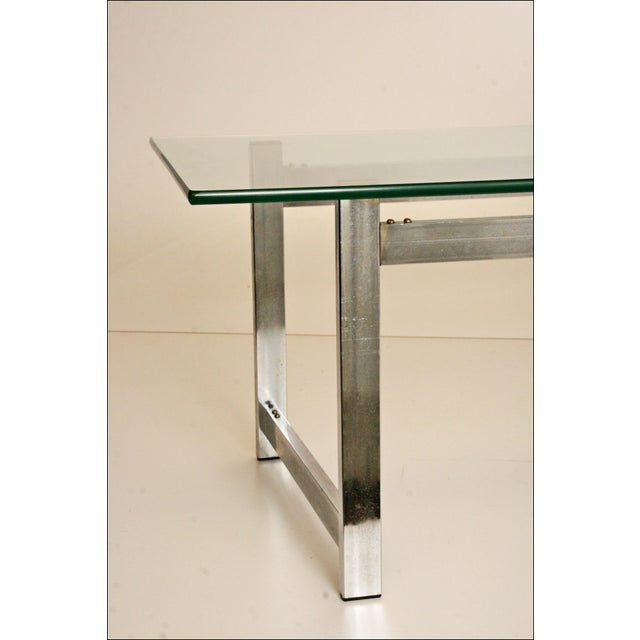 Mid-Century Modern Chrome & Glass Coffee Table - Image 7 of 11