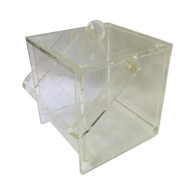 Image of Vintage Lucite Ice Bucket