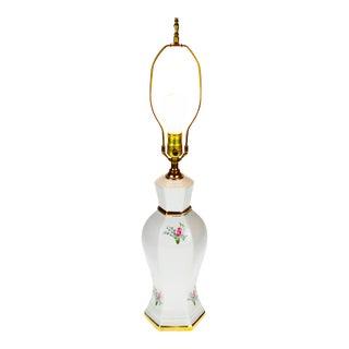 Vintage Porcelain Gold Gilt Urn Shaped Table Lamp