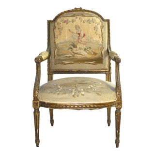 19th Century Aubusson French Chair