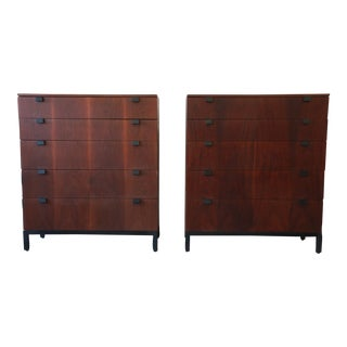Milo Baughman for Directional Rosewood Highboy Dressers - A Pair