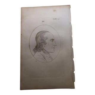 Man in Profile Antique Physiognomy Art Print, 1804
