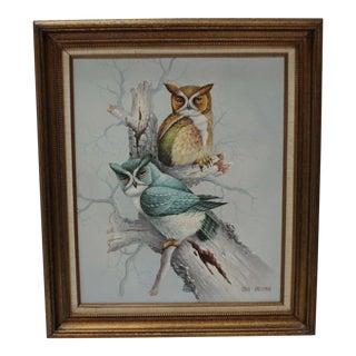 John Grossman Two Owls Painting