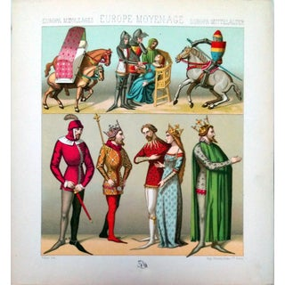 1888 Middle Age Clothing Lithograph