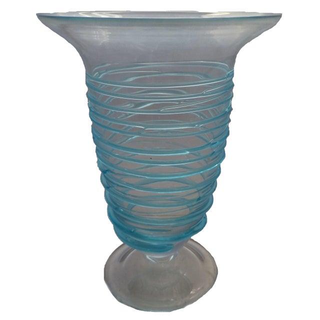 Mid-Century Bohemian Glass Vase - Image 1 of 4
