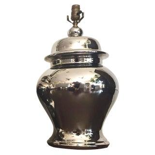 Mid-Century Chrome Ginger Jar Lamp